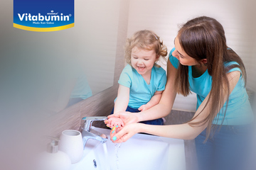 Biasakan Si Kecil untuk cuci tangan